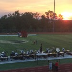Perfect sunset as Blue Stars take the field